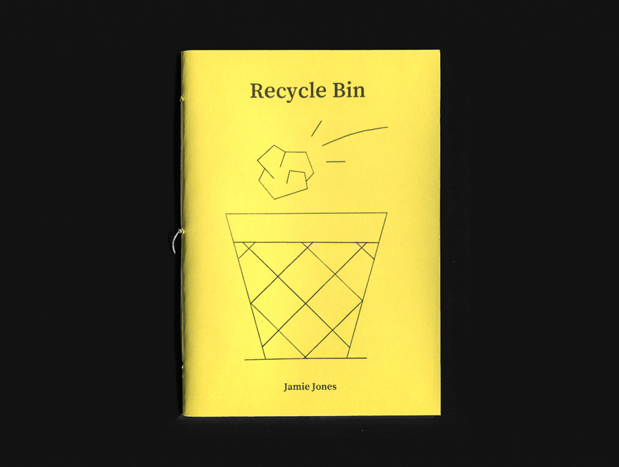 Jamie Jones Recycle Bin illustration zine cover